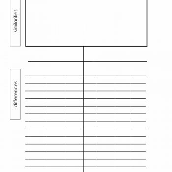 Printable TChart Templates  Examples  Template Archive