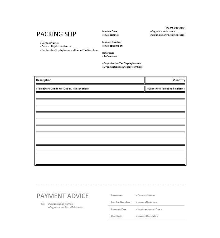 Packing Slip Template 04  Free Packing Slip Template