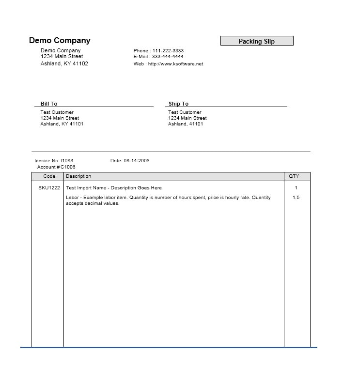 Packing Slip Template 08  Free Packing Slip Template