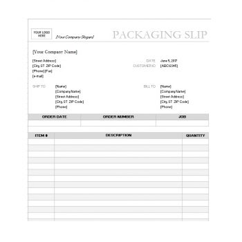 packing slip template 17