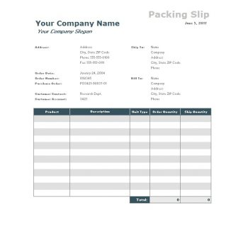 packing slip template 21