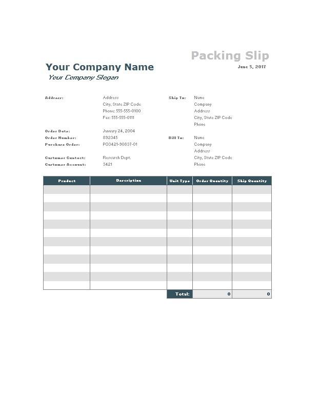 packing slip template 21
