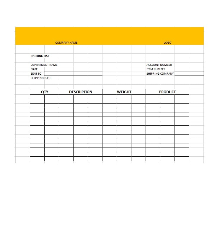 Packing slip templates for Packing slip template google docs