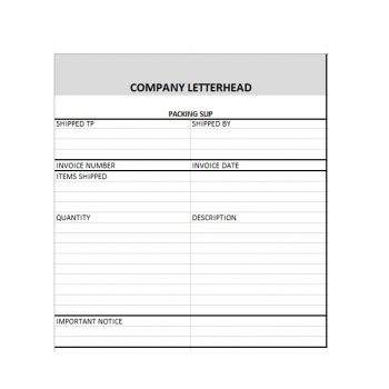 packing slip template 28