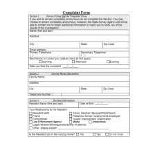 Employee Complaint Form Template 06