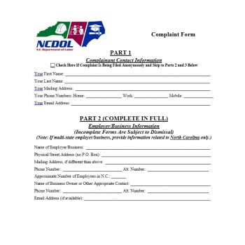 Employee Complaint Form Template 08