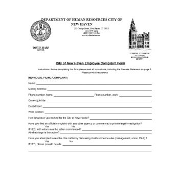 Employee Complaint Form Template 15