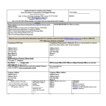 Employee Complaint Form Template 16
