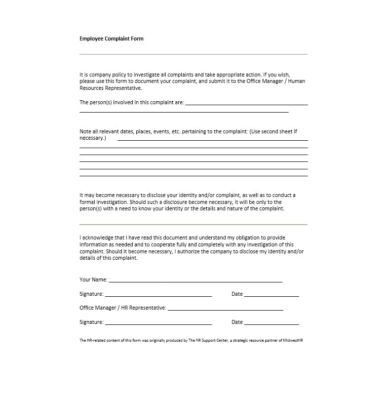 employee information sheet format