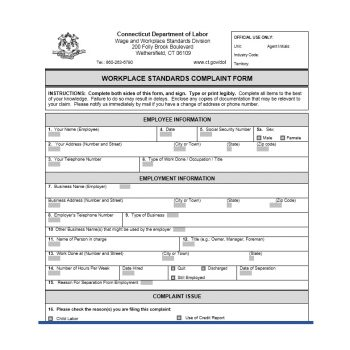 Employee Complaint Form Template 35