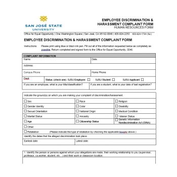 Employee Complaint Form Template 37