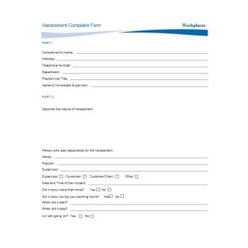 Employee Complaint Form Template 48