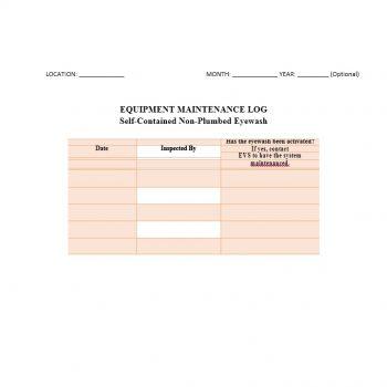 Equipment Maintenance Log Template 05