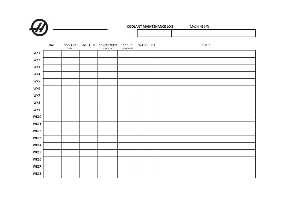 Equipment Maintenance Log Template 11