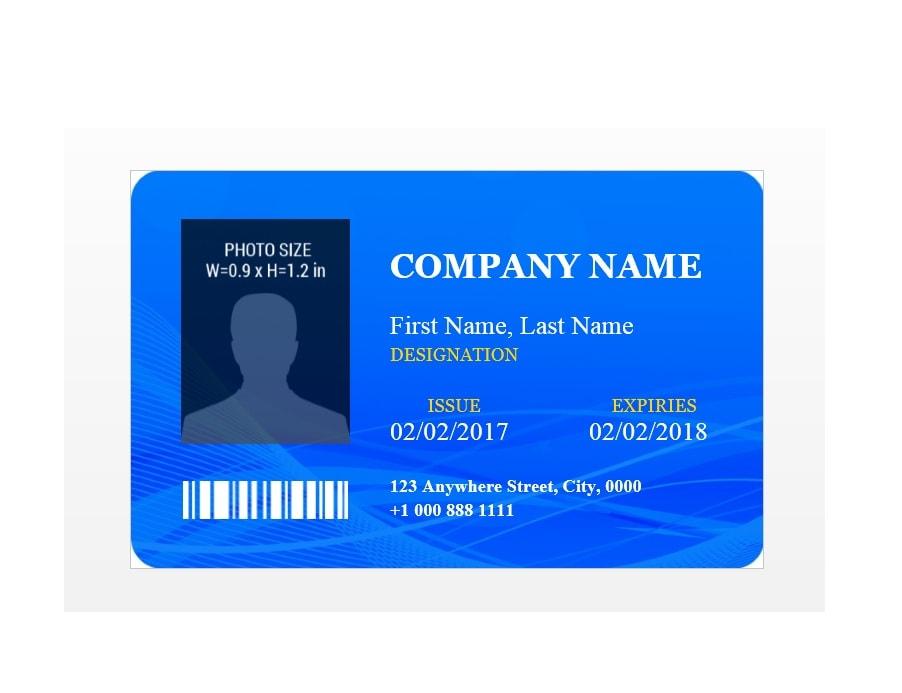 id badge template