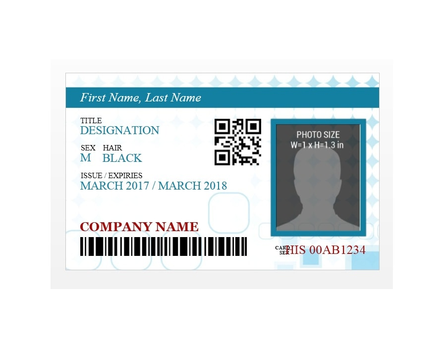 50 id badge id card templates free template archive for Id badge template free