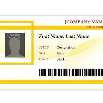 id badge template word