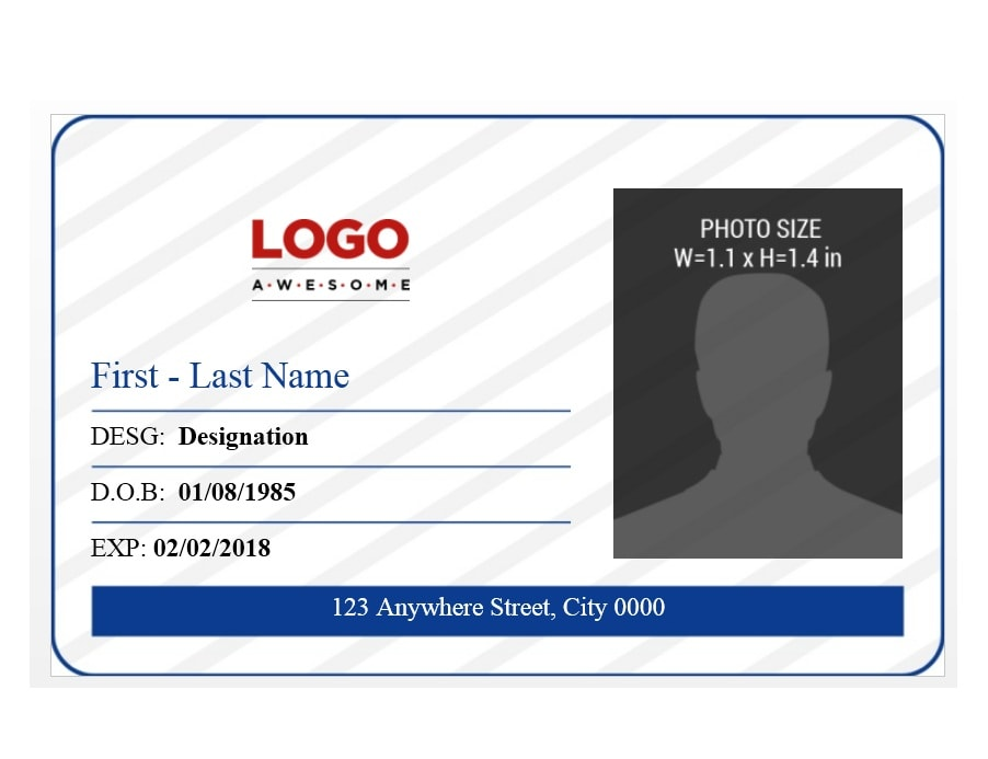 50 id badge id card templates free template archive. Black Bedroom Furniture Sets. Home Design Ideas