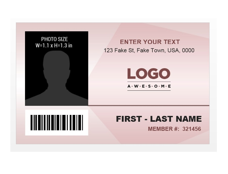 ID Card Template 16  Membership Id Card Template