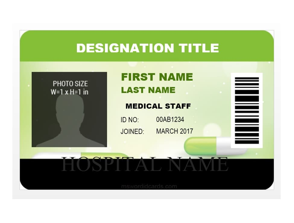 50 id badge  u0026 id card templates  free