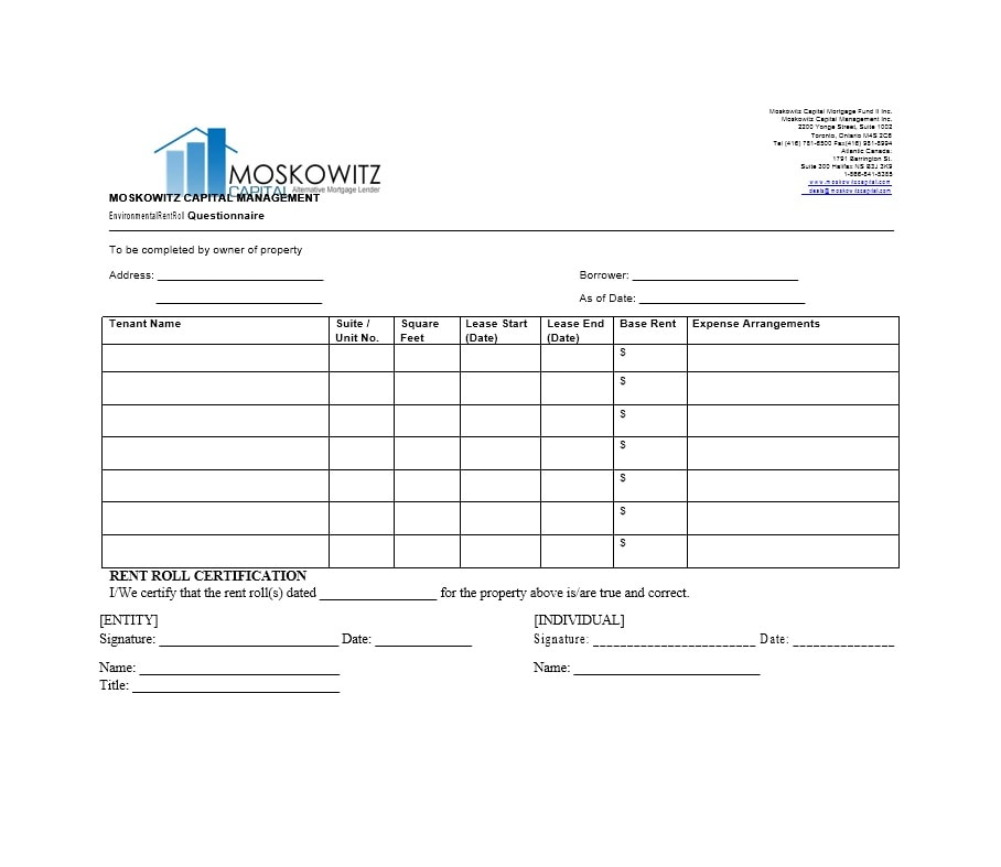 Rent Roll Template 08