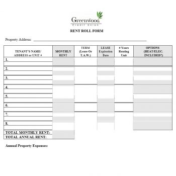Rent Roll Template 19