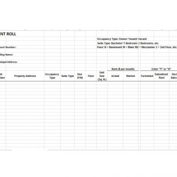 Rent Roll Template 30