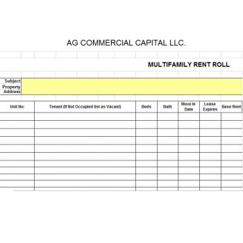 Rent Roll Template 36
