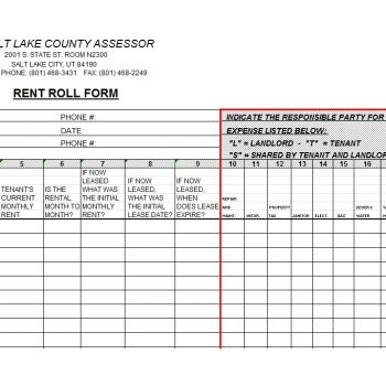 Rent Roll Template 39