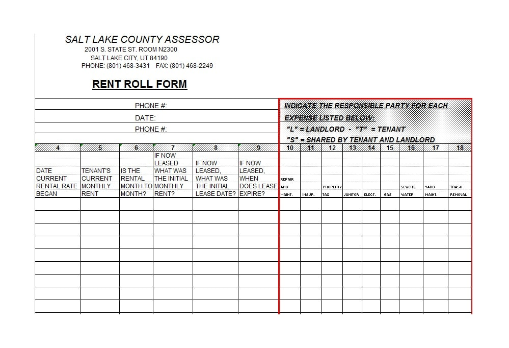 Rent Roll Templates  Forms  Template Archive