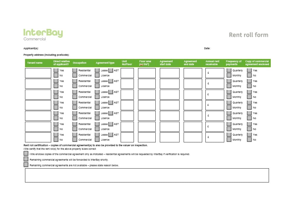 Rent Roll Template 40