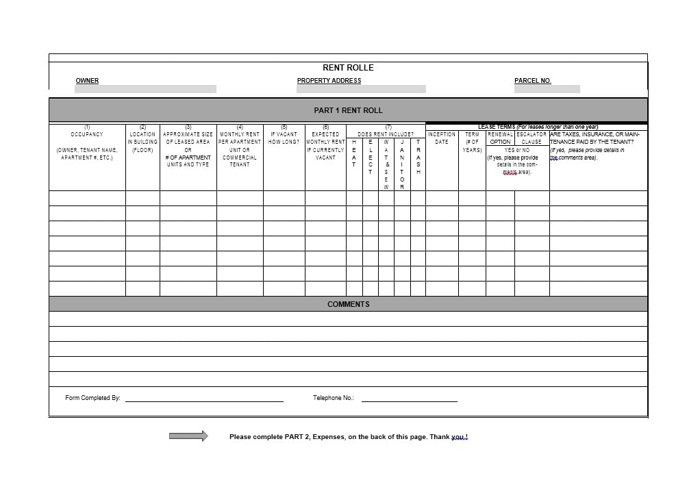 Rent Record Template  Rental Inventory Templates Free Sample