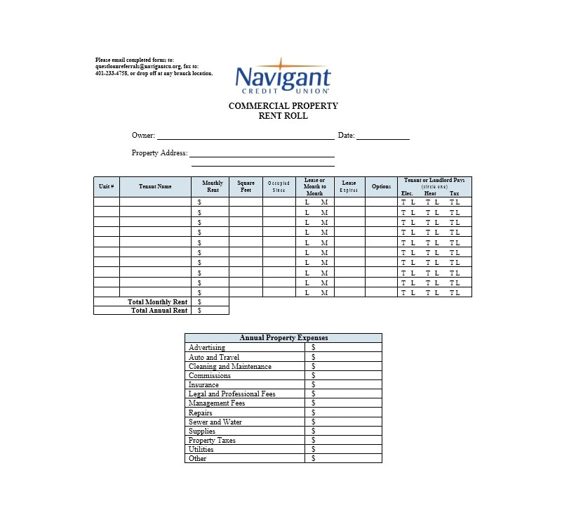 47 rent roll templates forms template archive rent roll template 47 pronofoot35fo Image collections