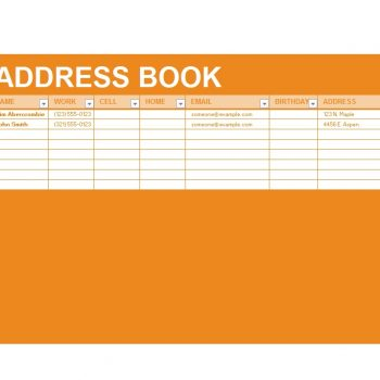 Address Book Template 13