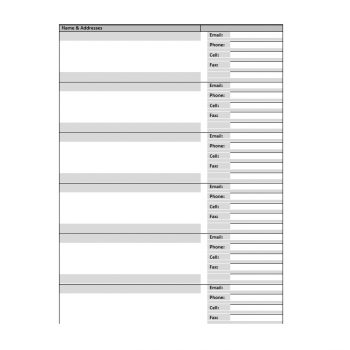 Address Book Template 14
