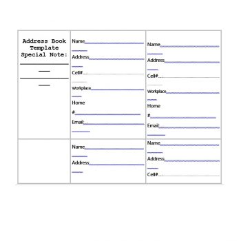 Address Book Template 15