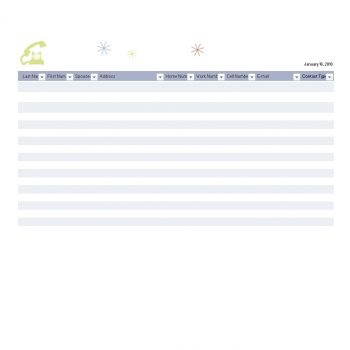 Address Book Template 19
