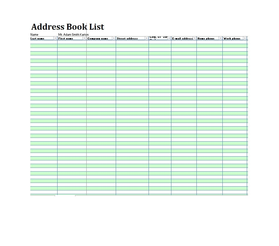 40 printable  u0026 editable address book templates  101  free