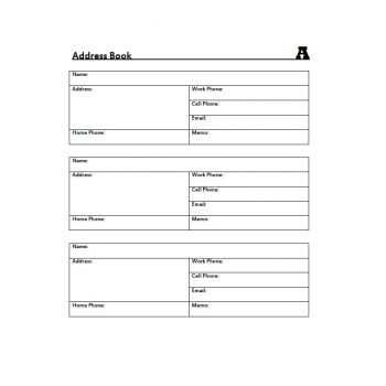 Address Book Template 34