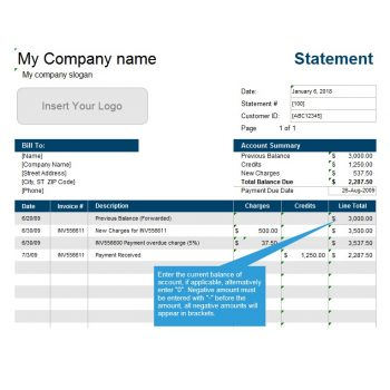 Billing Statement Template 01