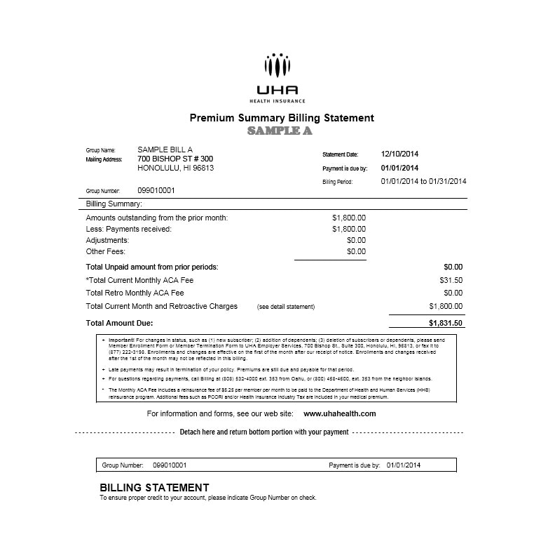 Billing Statement Template 06