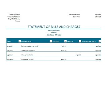 Billing Statement Template 08