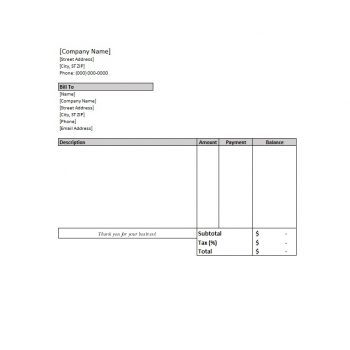 Billing Statement Template 13