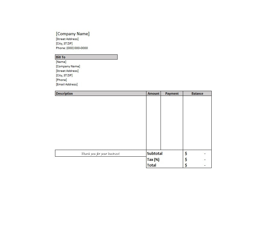 40 Billing Statement Templates Medical Legal Itemized More