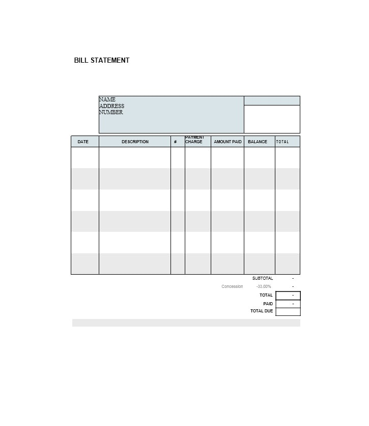 Billing Statement Template 17