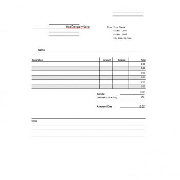 Billing Statement Template 21