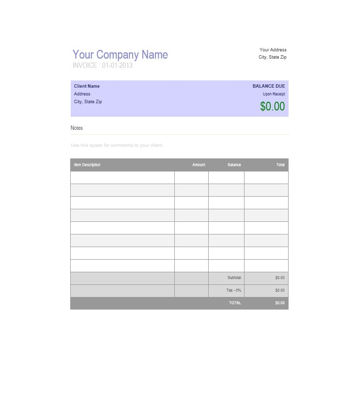 Billing Statement Template 22
