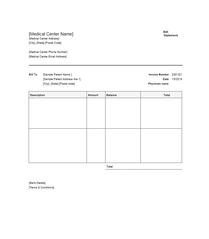 Billing Statement Template 25