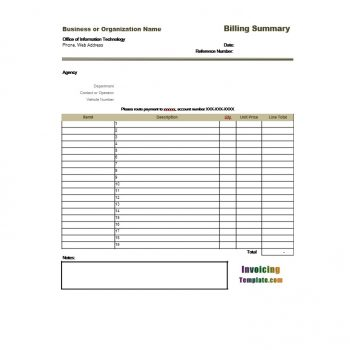 Billing Statement Template 28