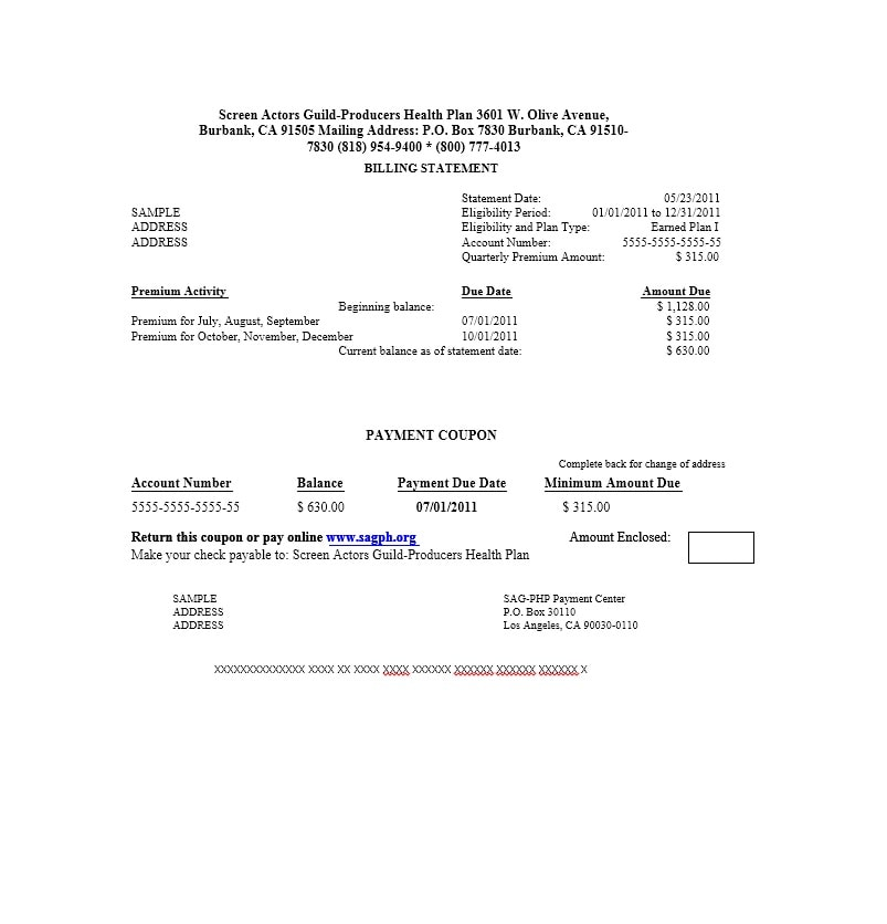 Billing Statement Template 38